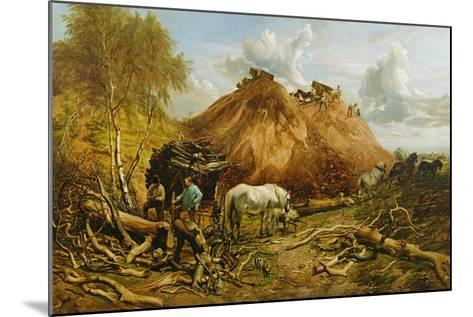 Clearing the Wood for the Iron Way, 1880-Thomas Sidney Cooper-Mounted Giclee Print