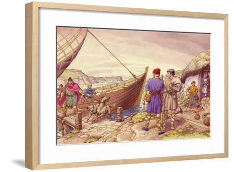 St Patrick of Ireland-Pat Nicolle-Framed Art Print