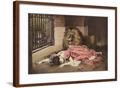 The Lion's Bride--Framed Art Print