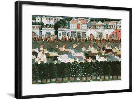 Returning to the Cowshed--Framed Art Print
