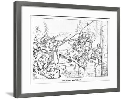 The Templars of Lahneck, Engraved by J. Dielmann-Alfred Rethel-Framed Art Print