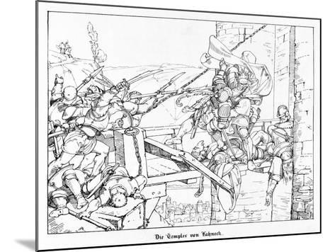 The Templars of Lahneck, Engraved by J. Dielmann-Alfred Rethel-Mounted Giclee Print