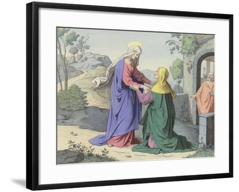 The Visitation of St Elizabeth--Framed Art Print