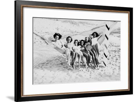 How Many Women Fit in a Hammock? C.1940--Framed Art Print