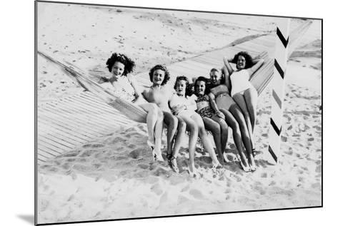 How Many Women Fit in a Hammock? C.1940--Mounted Photographic Print