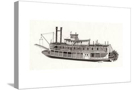 Paddle Steamer, 1818--Stretched Canvas Print