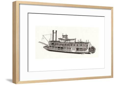 Paddle Steamer, 1818--Framed Art Print