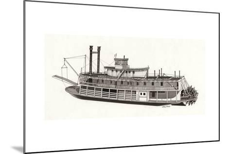 Paddle Steamer, 1818--Mounted Giclee Print