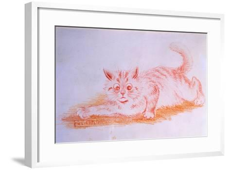 Crawling Cat, C.1935-Louis Wain-Framed Art Print