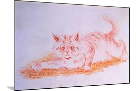 Crawling Cat, C.1935-Louis Wain-Mounted Giclee Print