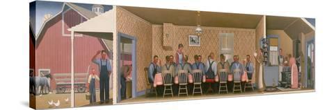 Dinner for the Threshers, 1934-Grant Wood-Stretched Canvas Print