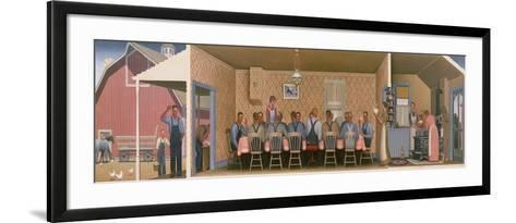 Dinner for the Threshers, 1934-Grant Wood-Framed Art Print