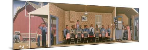 Dinner for the Threshers, 1934-Grant Wood-Mounted Giclee Print