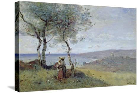 Souvenir of St. Jean De Luz, 1872-Jean-Baptiste-Camille Corot-Stretched Canvas Print