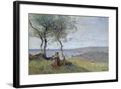 Souvenir of St. Jean De Luz, 1872-Jean-Baptiste-Camille Corot-Framed Art Print