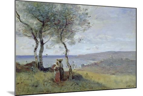 Souvenir of St. Jean De Luz, 1872-Jean-Baptiste-Camille Corot-Mounted Giclee Print
