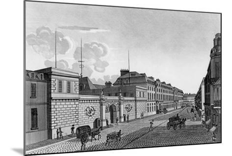 View of the Bank of France from the Rue Croix-Des-Petits-Champs, 1800-Henri Courvoisier-Voisin-Mounted Giclee Print