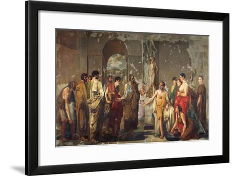 Athenian Phocion Refusing Alexander's Gifts-Nicola De Laurentiis-Framed Art Print