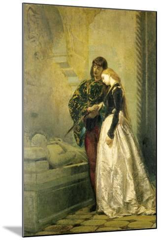 Visiting the Tomb of Romeo and Juliet, 1861-1862-Tranquillo Cremona-Mounted Giclee Print