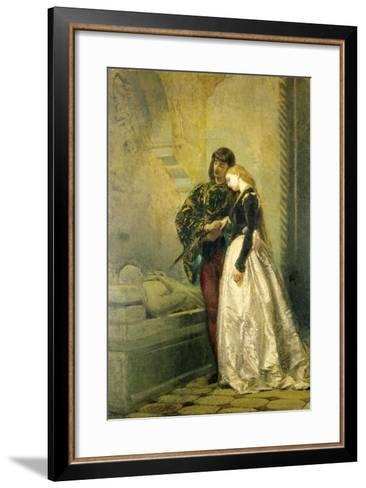 Visiting the Tomb of Romeo and Juliet, 1861-1862-Tranquillo Cremona-Framed Art Print