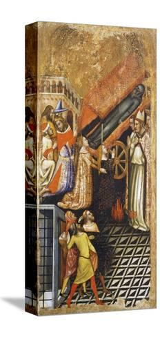 Stories of St Anthony the Abbot-Vitale da Bologna-Stretched Canvas Print