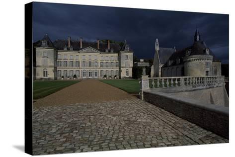 View of Chateau De Montgeoffroy, 1772-1776-Jean Benoit Vincent Barre-Stretched Canvas Print