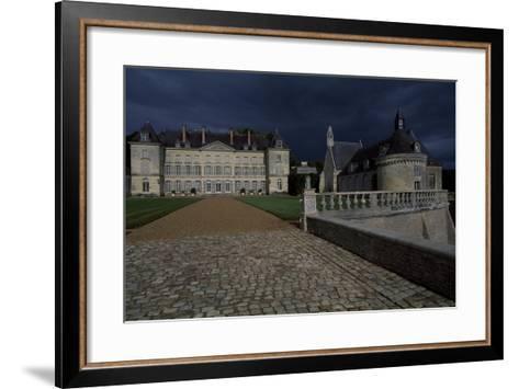 View of Chateau De Montgeoffroy, 1772-1776-Jean Benoit Vincent Barre-Framed Art Print