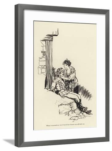 When I Recovered My Wits I Found That Carmen Was Still with Me-René Bull-Framed Art Print