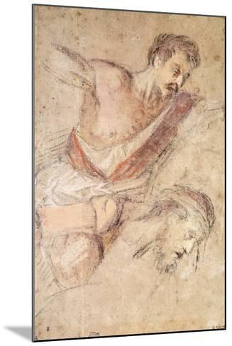 Studies for a Flagellation: a Man Scourging and the Head of Christ-Jacopo Bassano-Mounted Giclee Print