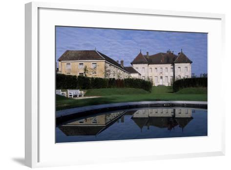 View of Chateau De Moncley, 1778-1790-Claude Bertrand-Framed Art Print