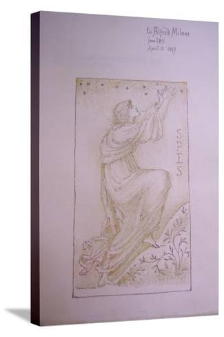 Spes, Illustration on the Flyleaf of 'Utopia' by Thomas More, 1897-Edward Burne-Jones-Stretched Canvas Print