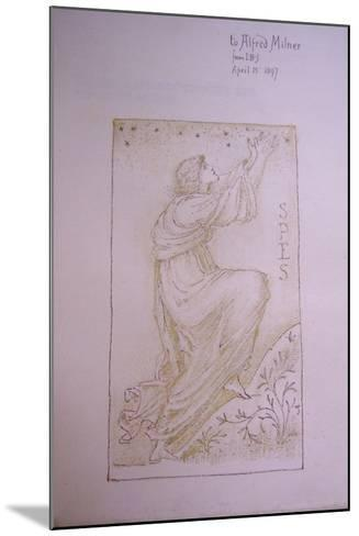 Spes, Illustration on the Flyleaf of 'Utopia' by Thomas More, 1897-Edward Burne-Jones-Mounted Giclee Print