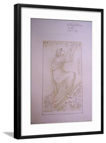 Spes, Illustration on the Flyleaf of 'Utopia' by Thomas More, 1897-Edward Burne-Jones-Framed Art Print