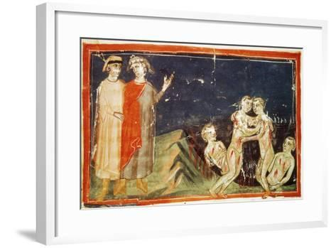 Inferno, Canto XXIX, Miniature from Divine Comedy-Dante Alighieri-Framed Art Print