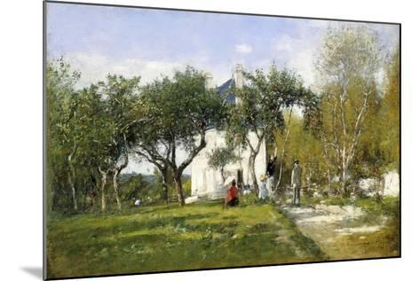 Fervaques, Garden and House of Monsieur Jacquette, 1877-Eug?ne Boudin-Mounted Giclee Print