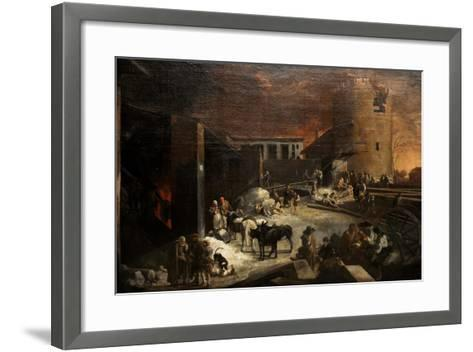 A Roman Lime-Kin, Ca. 1634-1637-Sebastien Bourdon-Framed Art Print
