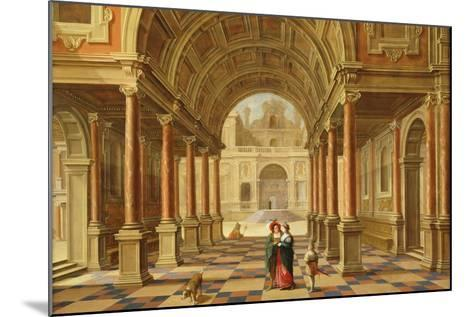 A Capriccio View in the Courtyard of a Classical Mansion, 1628-Bartolomeus Van Bassen-Mounted Giclee Print