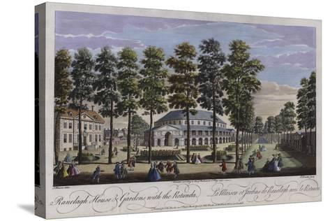 Ranelagh House and Gardens with the Rotunda, London, 1745-Thomas Bowles-Stretched Canvas Print