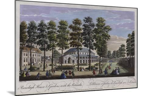 Ranelagh House and Gardens with the Rotunda, London, 1745-Thomas Bowles-Mounted Giclee Print