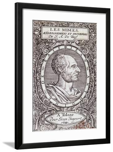Title Page of 1619 Edition of Les Mimes-Jean-Antoine De Baif-Framed Art Print