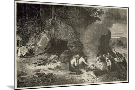 Un Repas Funeraire a L'Epoque Du Grand Ours Et Du Mammouth-Emile Antoine Bayard-Mounted Giclee Print