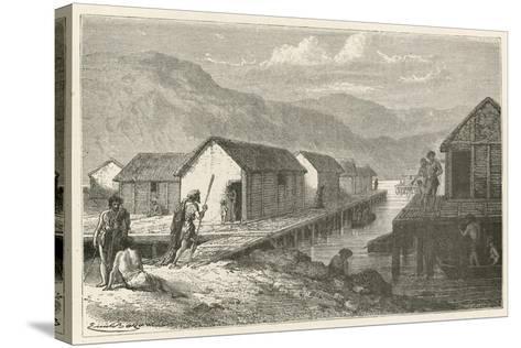 Un Village Lacustre De La Suisse a L'Epoque Du Bronze-Emile Antoine Bayard-Stretched Canvas Print