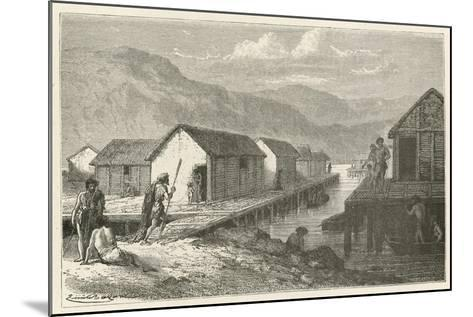 Un Village Lacustre De La Suisse a L'Epoque Du Bronze-Emile Antoine Bayard-Mounted Giclee Print