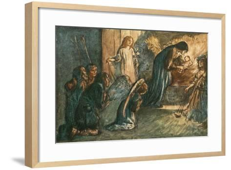 But See! the Virgin Blest Hath Laid Her Babe to Rest-Robert Anning Bell-Framed Art Print