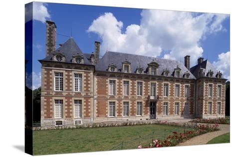 Chateau De Fayel Facade and French Garden, 1650-1655-Jacques Bruant-Stretched Canvas Print