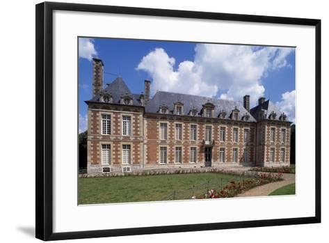 Chateau De Fayel Facade and French Garden, 1650-1655-Jacques Bruant-Framed Art Print