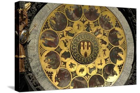 The Prague Astronomical Clock, the Calendar-Josef Manes-Stretched Canvas Print