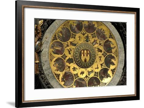 The Prague Astronomical Clock, the Calendar-Josef Manes-Framed Art Print