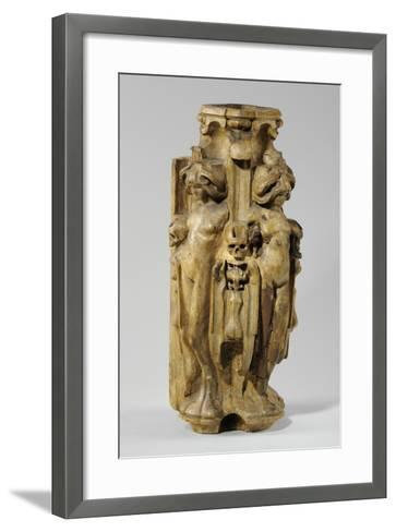 One of 9 Maquettes for the Sam Wilson Chimneypiece, C.1908-14-Alfred Gilbert-Framed Art Print