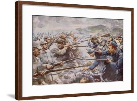 Belgians Repelling a Fierce German Attack at Liege-Arthur C. Michael-Framed Art Print